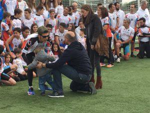 Hasta los mas pequeños querían salir en la Foto del Club Triatlón Las Rozas.